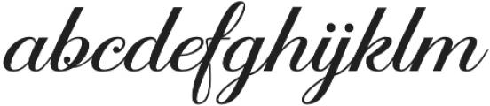 Aaron Script otf (400) Font LOWERCASE