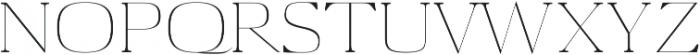 Aaron Thin otf (100) Font UPPERCASE