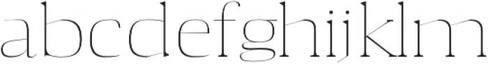Aaron Thin otf (100) Font LOWERCASE