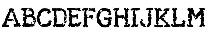 AA Typewriter Font UPPERCASE