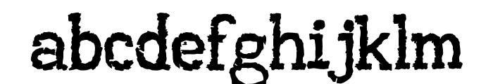 AA Typewriter Font LOWERCASE