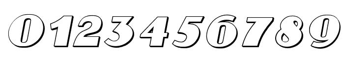 Aafia 3D Italic Font OTHER CHARS