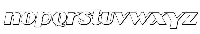 Aafia 3D Italic Font LOWERCASE