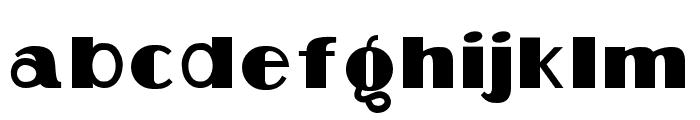 Aafia Regular Font LOWERCASE