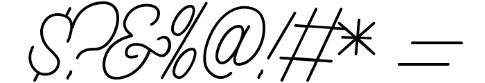 Aamonoline Font OTHER CHARS