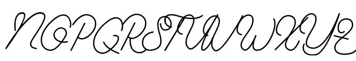Aamonoline Font UPPERCASE