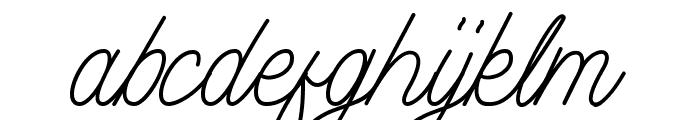 Aamonoline Font LOWERCASE