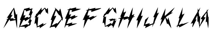 Aarcover Regular Font UPPERCASE