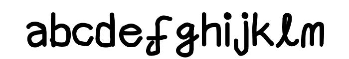 Aaron SansRegular Font LOWERCASE