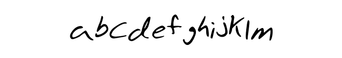 Aaron's Hand Font LOWERCASE