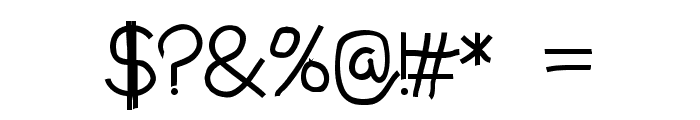 Aaron's Handwriting Bold Font OTHER CHARS