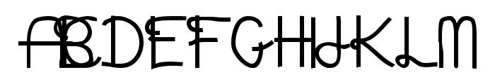 Aaron's Handwriting Bold Font UPPERCASE