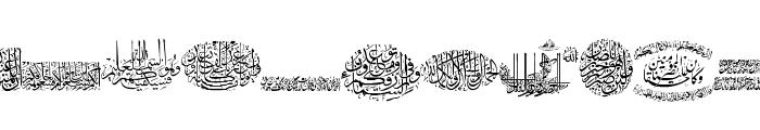 Aayat Quraan 12 Font LOWERCASE