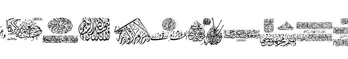 Aayat Quraan 14 Font LOWERCASE