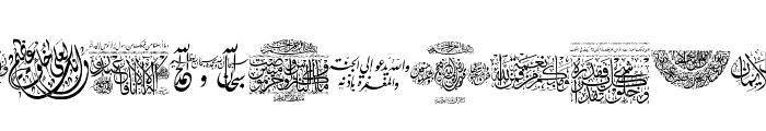 Aayat Quraan 3 Font LOWERCASE