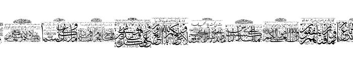 Aayat Quraan 6 Font LOWERCASE