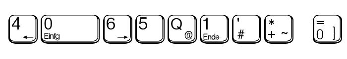 aa QWERTZ-Tasten Font OTHER CHARS
