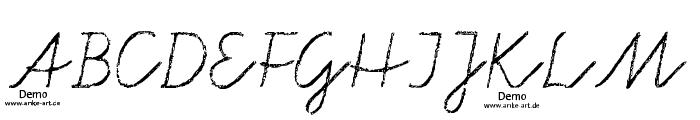 aa Tafelschrift DEMO Font UPPERCASE
