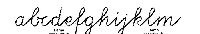 aa Tafelschrift DEMO Font LOWERCASE