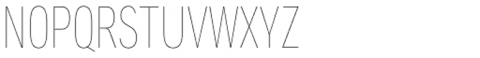 Aago Compressed Hairline Font UPPERCASE