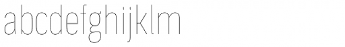 Aago Compressed Hairline Font LOWERCASE