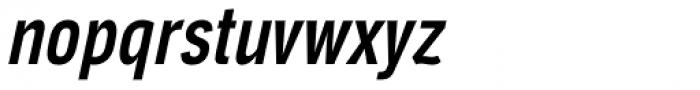 Aago Compressed Medium Italic Font LOWERCASE
