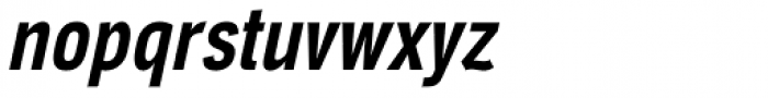 Aago Compressed SemiBold Italic Font LOWERCASE
