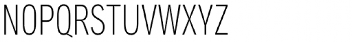 Aago Compressed Thin Font UPPERCASE