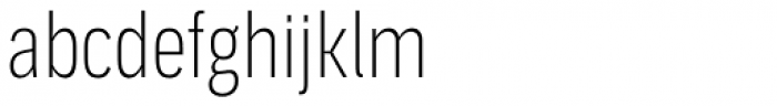 Aago Compressed Thin Font LOWERCASE
