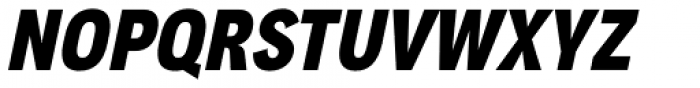 Aago Condensed Black Italic Font UPPERCASE