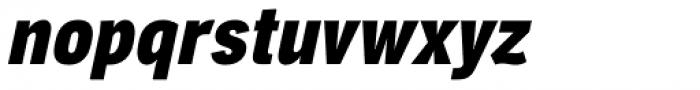 Aago Condensed Black Italic Font LOWERCASE