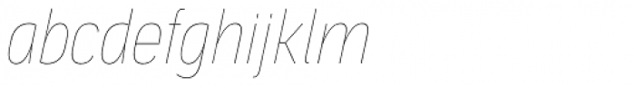 Aago Condensed Hairline Italic Font LOWERCASE
