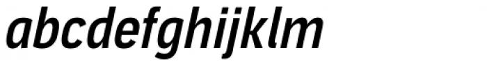 Aago Condensed Medium Italic Font LOWERCASE