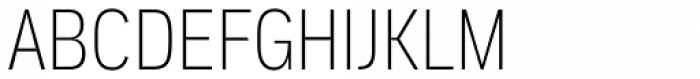 Aago Condensed Thin Font UPPERCASE