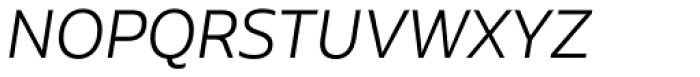 Aalto Sans Essential Alt Light Italic Font UPPERCASE