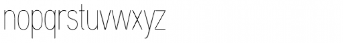 Aaux Next Comp Hairline Font LOWERCASE