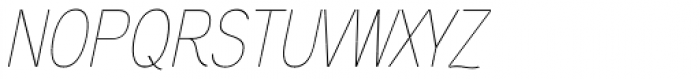 Aaux Next Cond Hairline Italic Font UPPERCASE