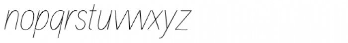 Aaux Next Cond Hairline Italic Font LOWERCASE
