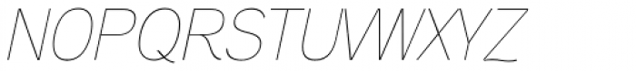 Aaux Next Hairline Italic Font UPPERCASE