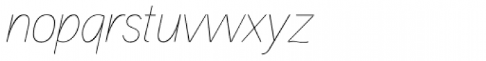 Aaux Next Hairline Italic Font LOWERCASE
