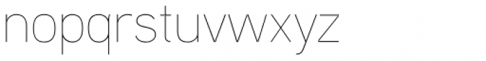 Aaux Next Hairline Font LOWERCASE