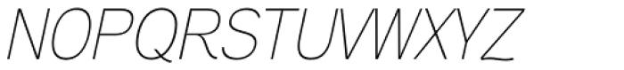 Aaux Next Thin Italic Font UPPERCASE