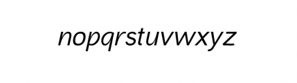 Aaux Next Complete Wide MediumItalic Font LOWERCASE