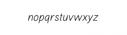 Aaux Pro Complete Light Italic Font LOWERCASE