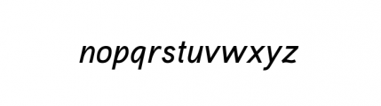 Aaux Pro Complete Medium Italic OSF Font LOWERCASE