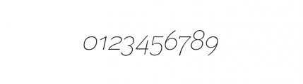 Aaux Pro Complete Thin Italic OSF Font OTHER CHARS