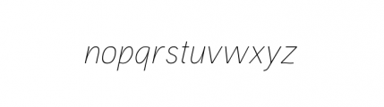 Aaux Pro Complete Thin Italic OSF Font LOWERCASE