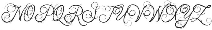 Ababil Script Regular otf (400) Font UPPERCASE