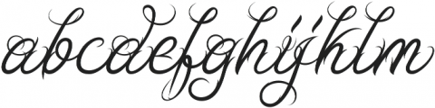 Ababil Script Regular otf (400) Font LOWERCASE