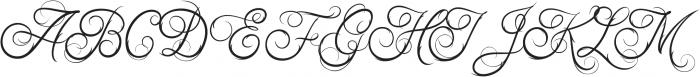 Ababil Script Std Regular ttf (400) Font UPPERCASE